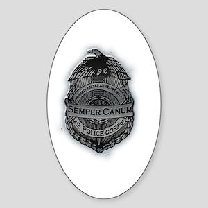 Semper Canum Oval Sticker