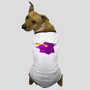 Purple Grad Cap Dog T-Shirt