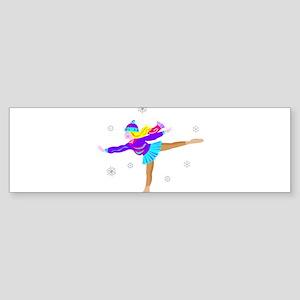 Girl Skating Bumper Sticker