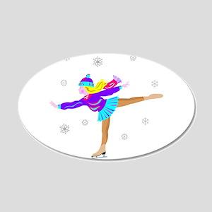 Girl Skating Wall Decal