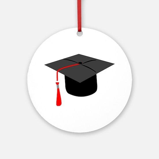 Graduation Cap Ornament (Round)