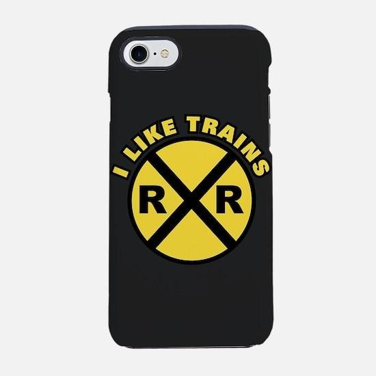 I Like Trains iPhone 7 Tough Case