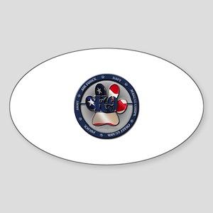 Once a Handler Oval Sticker