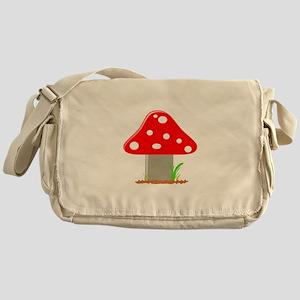 Red Little Mushroom Messenger Bag