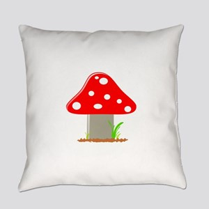 Red Little Mushroom Everyday Pillow