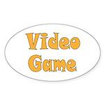 Video Game Sticker (Oval 10 pk)