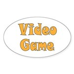 Video Game Sticker (Oval 50 pk)