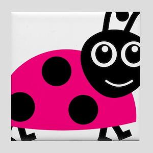 Lady Bug Tile Coaster