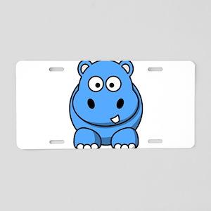 Baby Hippo Aluminum License Plate