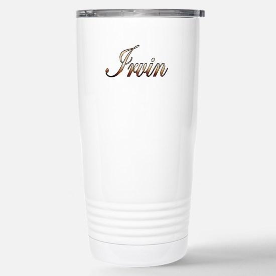 Gold Irvin Stainless Steel Travel Mug