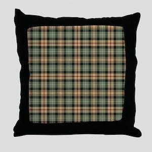 Tartan-MacKenzie htg brn Throw Pillow