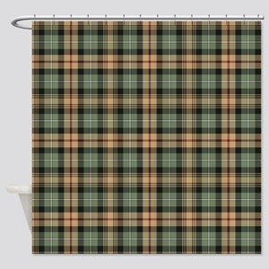 Tartan-MacKenzie htg brn Shower Curtain