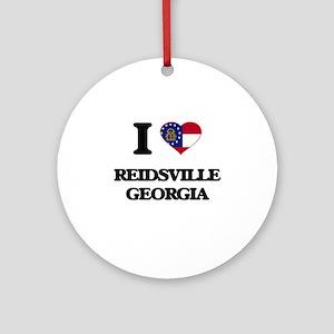 I love Reidsville Georgia Ornament (Round)