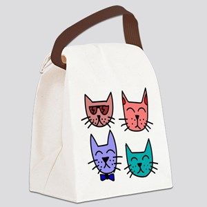 Kitty Kats Canvas Lunch Bag