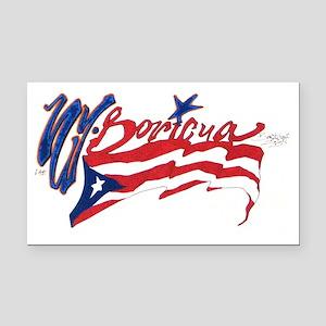 Boricua N.Y. Rectangle Car Magnet