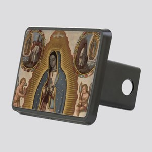 Virgin of Guadalupe. Rectangular Hitch Cover