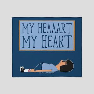 Bob's Burgers Tina Heart Throw Blanket