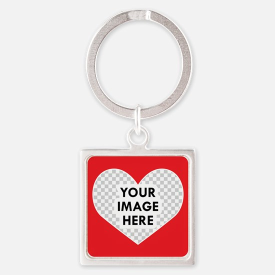 CUSTOM Heart Photo Frame Keychains