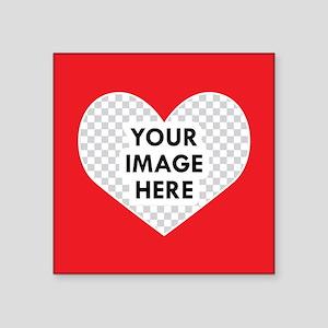 CUSTOM Heart Photo Frame Sticker