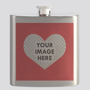 CUSTOM Heart Photo Frame Flask