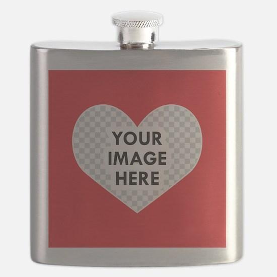 CUSTOM Heart Photo Frame Flask