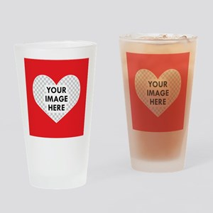CUSTOM Heart Photo Frame Drinking Glass