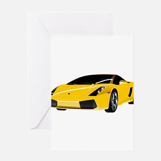 Fancy Car Greeting Cards