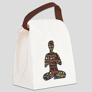 Meditation Canvas Lunch Bag
