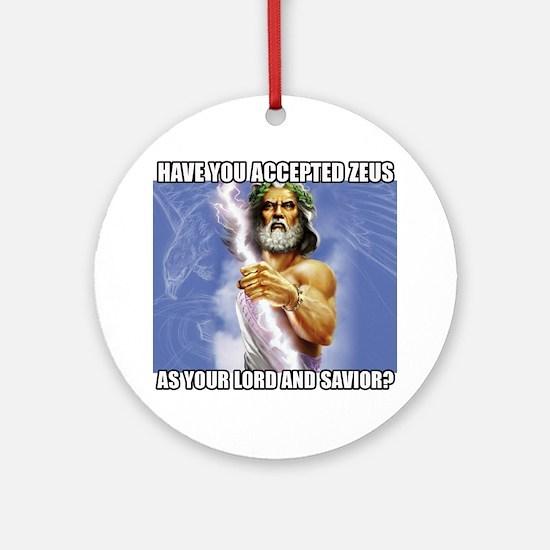 Zeus Round Ornament