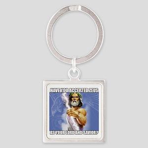 Zeus Square Keychain