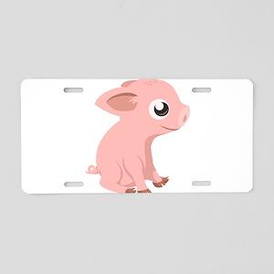 Baby Pig Aluminum License Plate