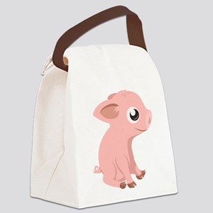 Baby Pig Canvas Lunch Bag