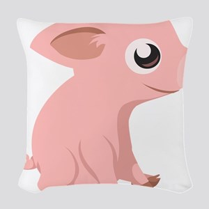 Baby Pig Woven Throw Pillow