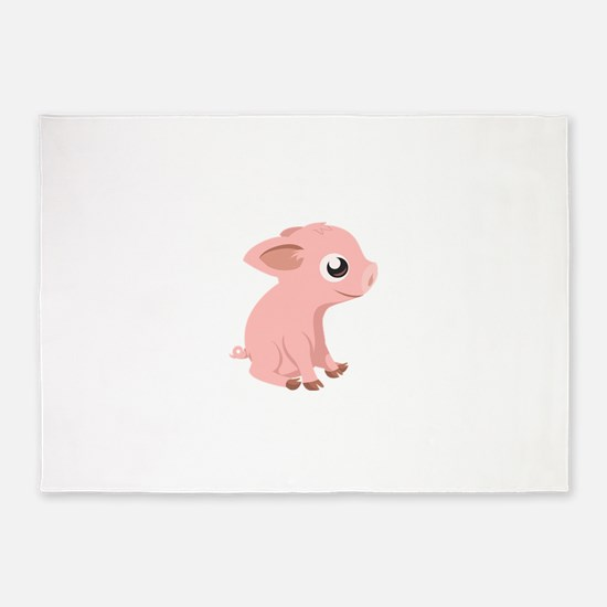 Baby Pig 5'x7'Area Rug