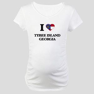 I love Tybee Island Georgia Maternity T-Shirt