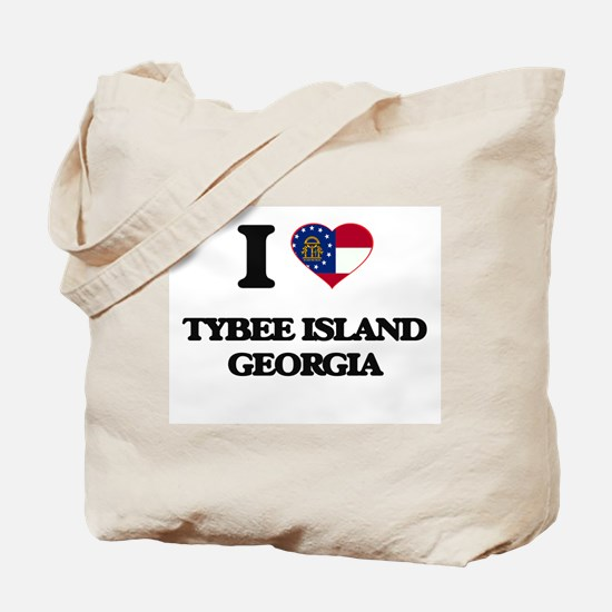 I love Tybee Island Georgia Tote Bag