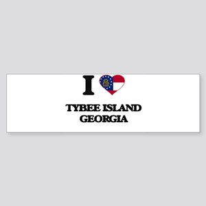 I love Tybee Island Georgia Bumper Sticker