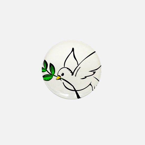 Peaceful Dove Mini Button