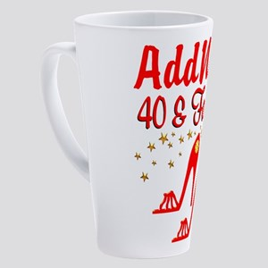 40TH STILETTO 17 oz Latte Mug
