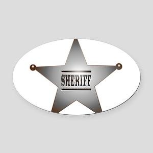 Sheriff Badge Oval Car Magnet