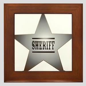 Sheriff Badge Framed Tile