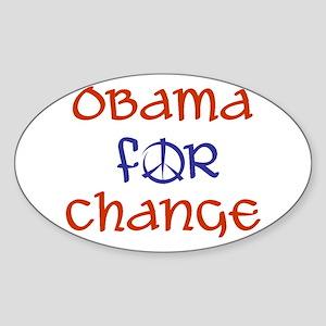 Obama For Change Oval Sticker