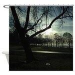 English Bay Silhouette Shower Curtain