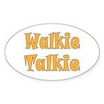 Walkie Talkie Sticker (Oval)