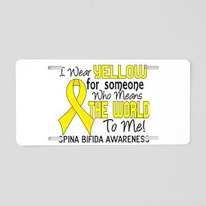 Spina Bifida MeansWorldToMe Aluminum License Plate