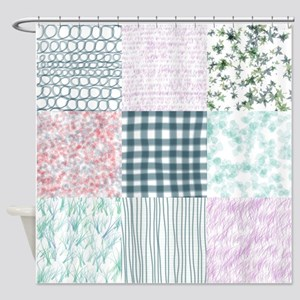 Shabby Chic Quilt Shower Curtain