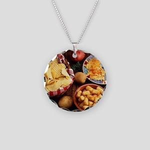 Potato Foods Necklace Circle Charm