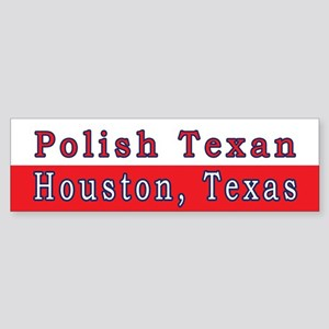 Houston Polish Texan Bumper Sticker