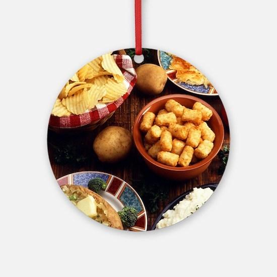 Potato Foods Ornament (Round)