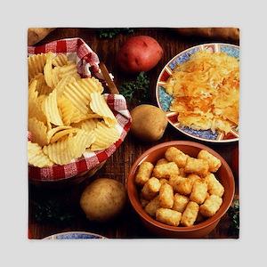 Potato Foods Queen Duvet